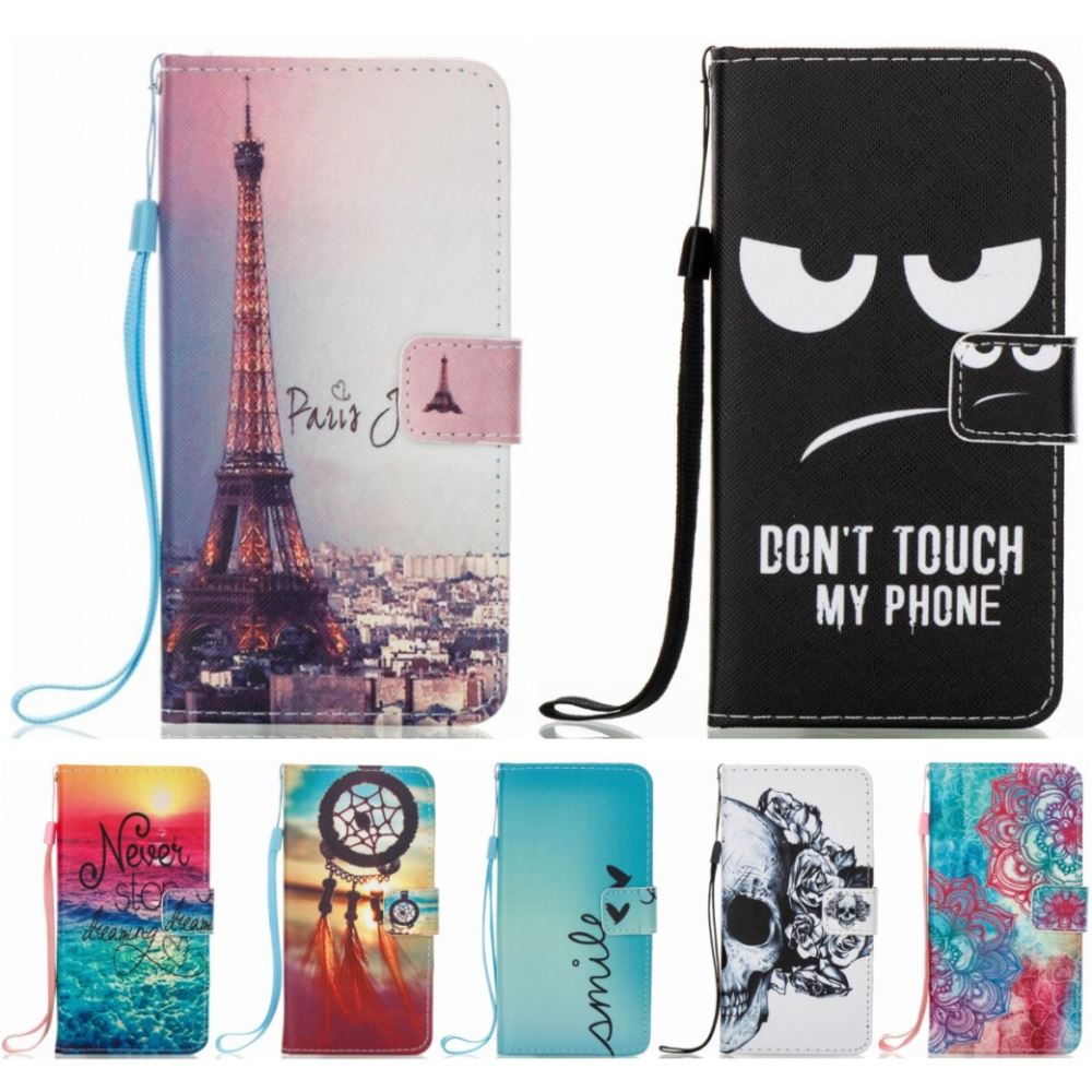 DEEVOLPO Cover Case For Huawei Ascend P8Lite P8 LITE 2017 2015 Silicone Holder Card Slot Wallet Paint Capa Fundas Coque Bag D03Z(China)
