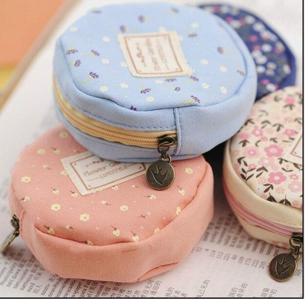 Mini Calico Round Coin Wallet Children Hasp Coin Purse#402Money Bag Change Pouch Headphone Key Receive Gift For Kids Girl Boys 2017 new mini bag leather coin purse header key wallet money card holder change wallet pouch change purse wholesale high quailty