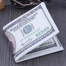 Новое поступление, мужской кошелек, сумки, американский доллар, кошелек, Ретро стиль, коричневый кожаный кошелек, сумка для денег, двойной, фото, кредитный держатель для карт