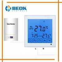 Thermostat de chaudière à gaz rétro-éclairage bleu AA piles chauffe-chaudière thermorégulateur de température câblé pour chaudière