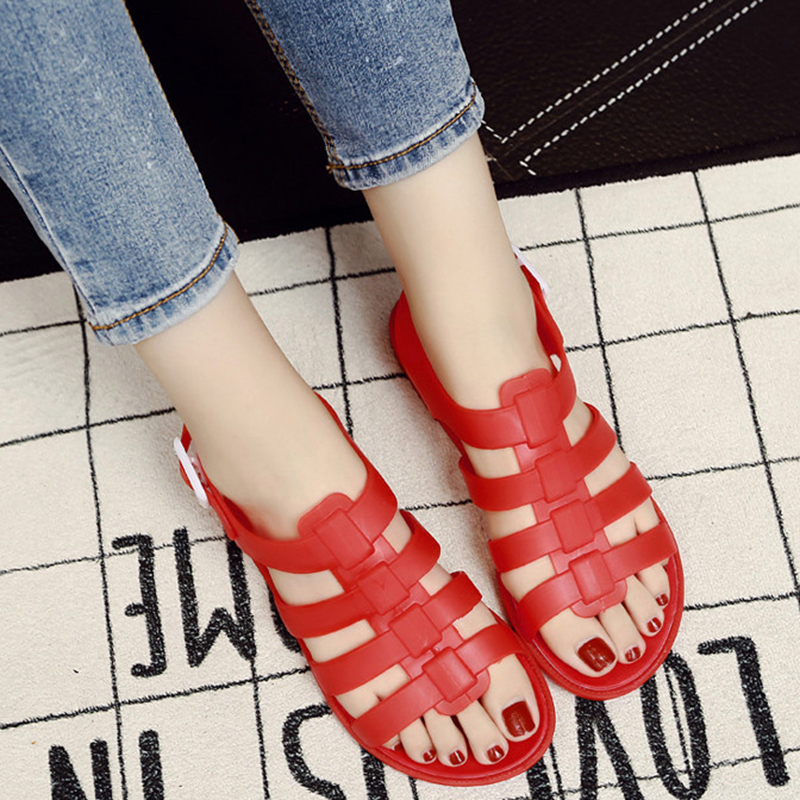 Hingebungsvoll Sommer Schuhe Frau Mode Sandalen Casual Schuhe Atmungsaktive Hausschuhe Mädchen Kunststoff Maultiere Im Freien Liebhaber Feminino Schnalle Clogs FüR Schnellen Versand Schuhe