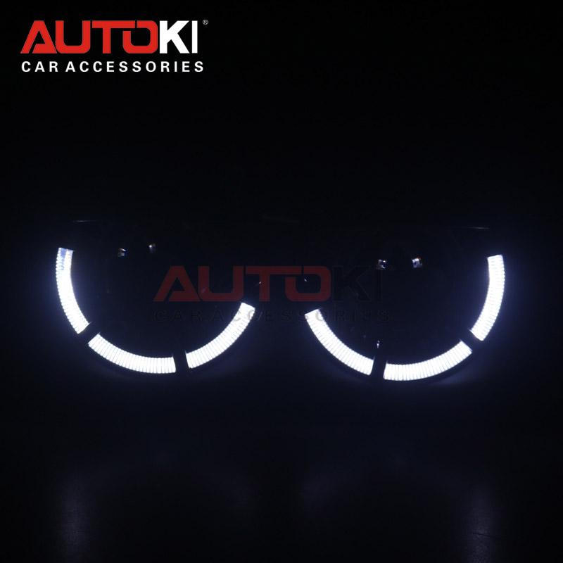 AUTOKI 2018 New <font><b>LED</b></font> angel eyes Polo Sport + metal Super H1 3.0 inch Bi-xenon Projectors <font><b>headlight</b></font> <font><b>lens</b></font> for H4 <font><b>H7</b></font> 9005 9006 image
