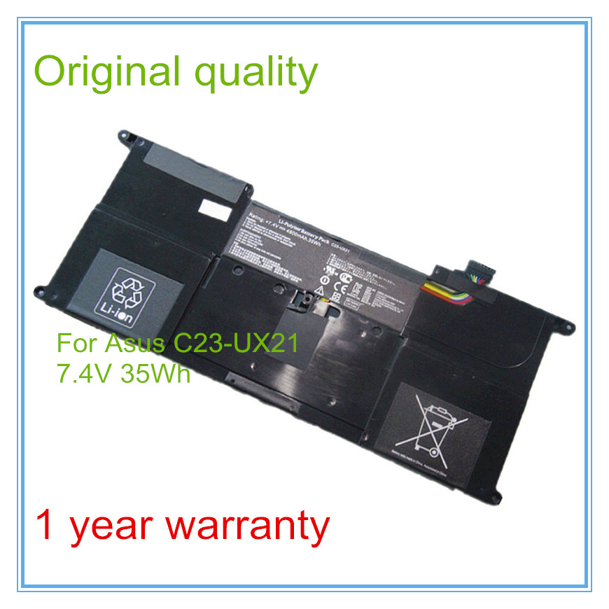 Free shipping New original 7.4V 4800mAh 35Wh 4Cell C23-UX21 Battery for UX21 UX21A UX21E Ultrabook Laptop original new for nihon kohden pvm 2700 pvm 2703 pvm 2701 sb 201p x076 monitor rechargeable battery 12v 3700mah free shipping