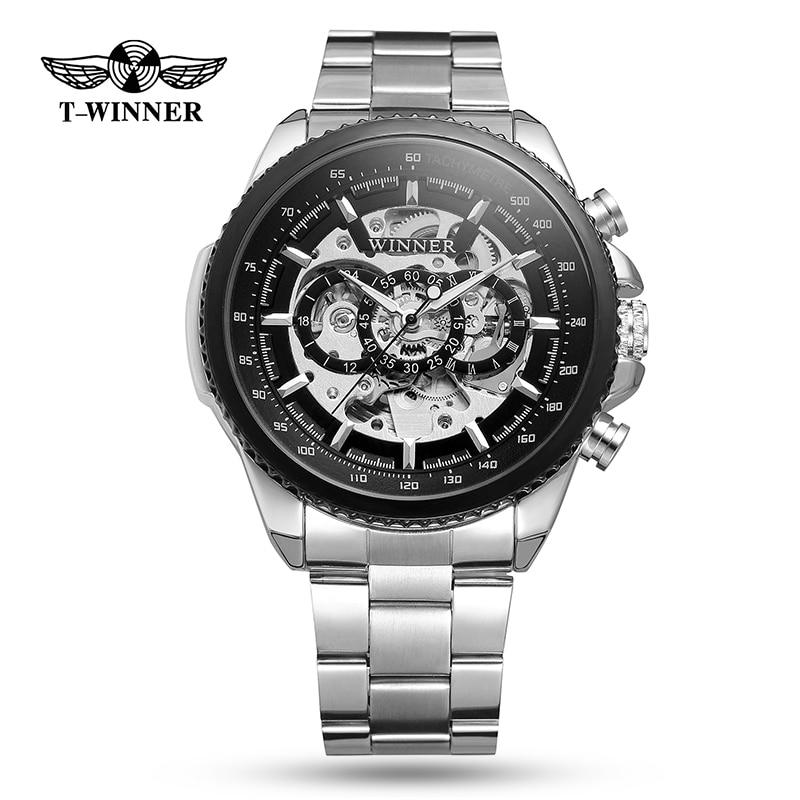 Winner hommes montres de sport or mécanique hommes montres Top marque de luxe horloge hommes automatique squelette montre relogio masculino