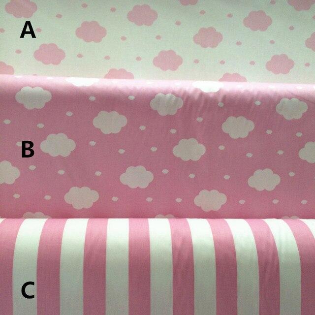 Conhecido 160 cm * 50 cm rosa nuvem cortinas de tecido de algodão de pano do  EL24