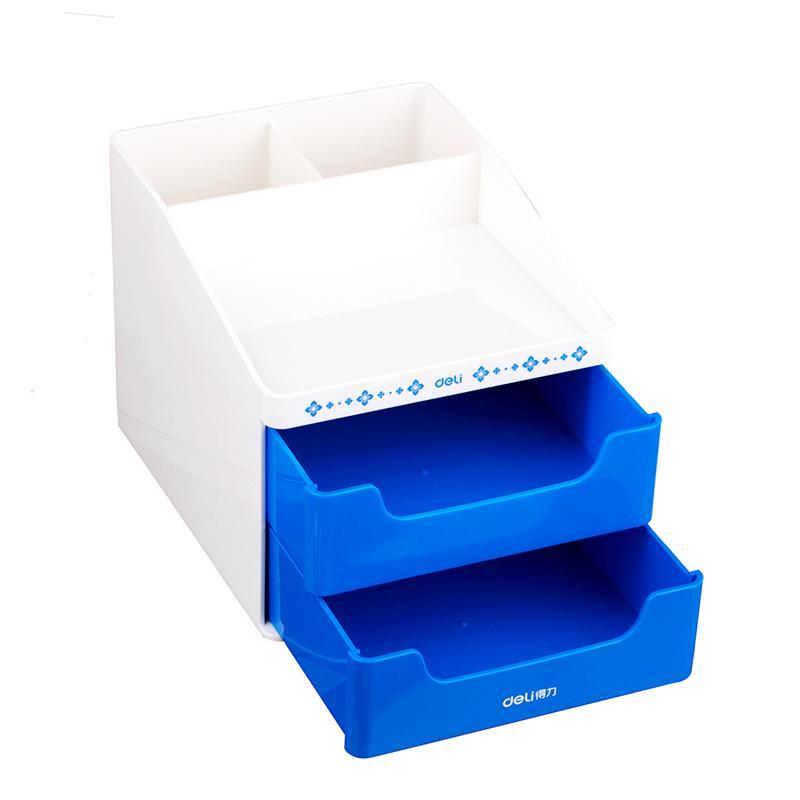 Держатель для канцелярских принадлежностей, аксессуары для стола, резиновая коробка для ног, держатель для канцелярских принадлежностей, канцелярские товары, органайзер для стола - Цвет: L blue