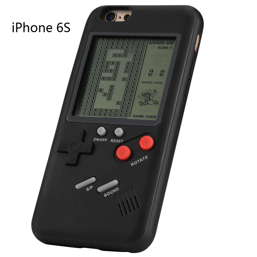 US $15 0 |Retro Classic Childhood Tetris Handheld Game Players LCD  Electronic Games Toys Game Console 2 in 1 for iPhone 6 6S Phone Cases-in  Handheld
