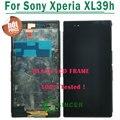 Blanco negro púrpura para sony para xperia z ultra xl39h xl39 C6802 C6833 LCD Con Pantalla Táctil Digitalizador Asamblea con marco