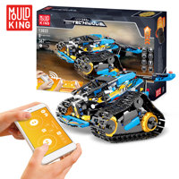 Mould King Technic Block 13033 13037 Rc Car With App Control Track Vehicle Racing Car Stunt GP