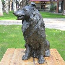 The  dog animal bronze ornaments dog art jewelry gift Home Furnishing Hotel Club Feng Shui copper