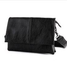 2017 mode Umhängetaschen für Männer Messenger Taschen Leder Corssbody Lässig Herren Vintage Tasche Schwarz Hochwertigen