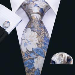 8,5 см галстуки для Для мужчин модные дизайнеры галстук Барри. ван 100% шелк цветочный узор галстук комплект Dripshipping Gravata FA-5073