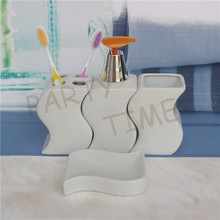 Ceramic 4 pieces bathroom set, high quality fashionable accessories, free shipping set