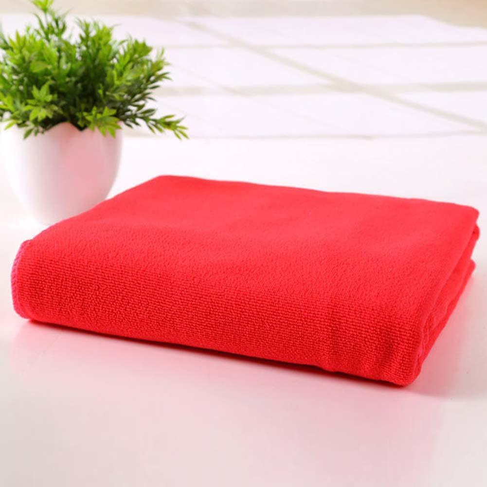 Red Microfiber Bath Towels: 70x140cm Microfiber Absorbent Drying Bath Beach Towel