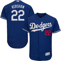 MLB Free Shipping Men S Los Angeles Dodgers Clayton Kershaw Majestic Blue Flex Base Authentic Collection