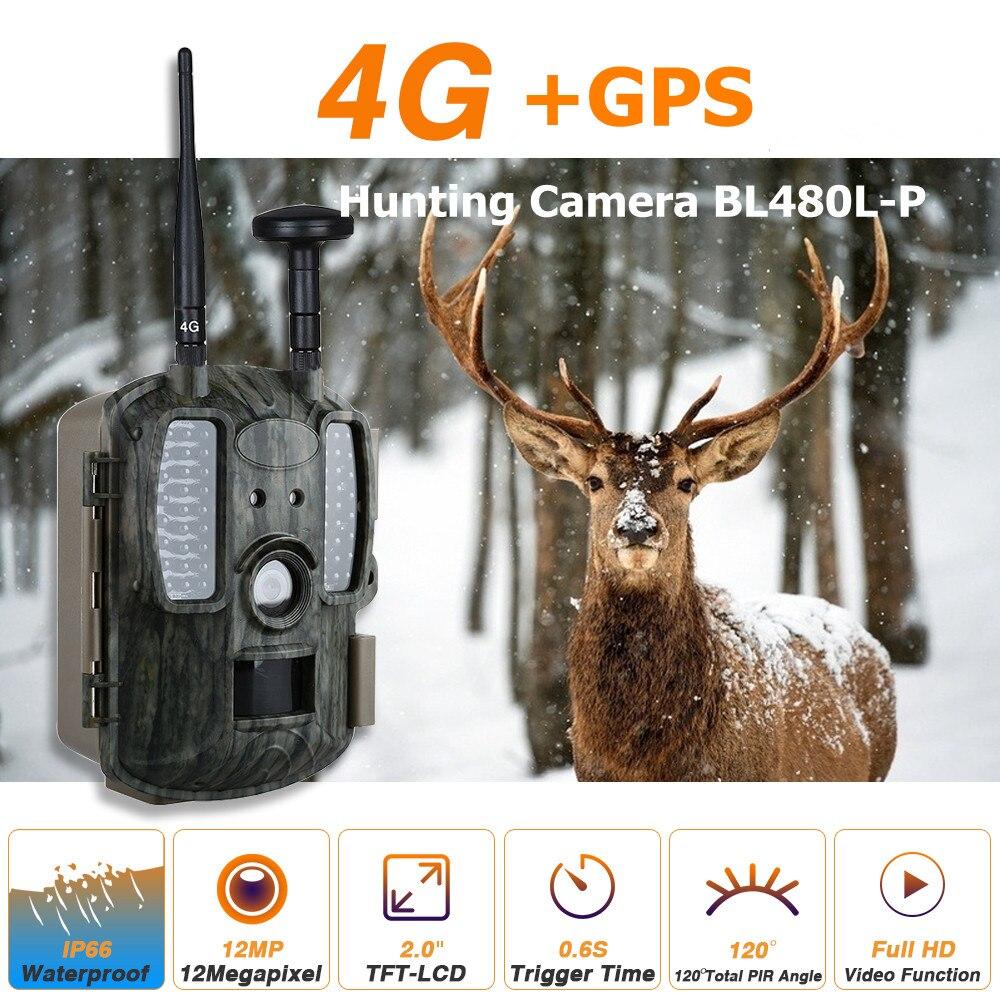 4G caméras de chasse avec GPS 4G LTE caméras de faune 12MP GPS forêt faune caméras 4G réseau chasseur caméras piège photo