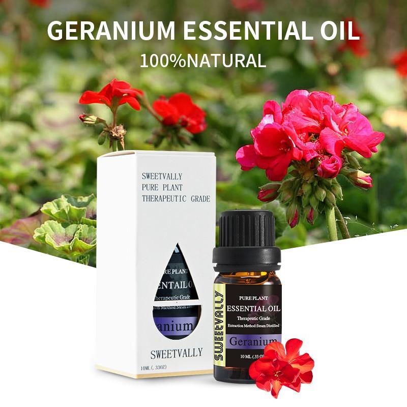 10ml Geranium Essential Oil AirFresheningHelps Relieve Anxietyhelpsleep Essential Oils Plant Aromatherapy Essential Oil