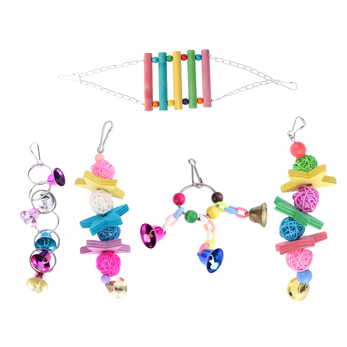 5Pcs Toys Funny Cute Interesting Flexible Colorful Playings Swing for Birds Squirrel Animal Decorating Parrot цена