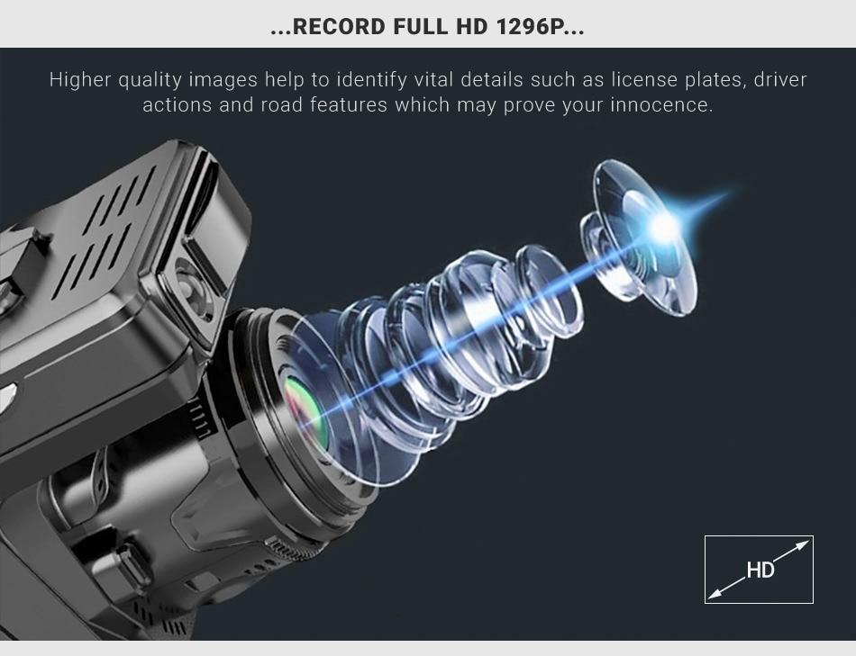 Original Ruccess 3 in 1 Radar Dvr  FHD 1296P Built-in GPS Car Detector Dual lens Car Camera Anti Radar Detector Russian Speedcam 14