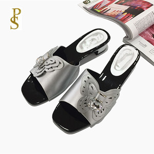Image 2 - African style shoes for women mama slippers Low heel shoes