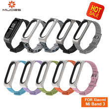 Mijobs Classic Youth Mi Band 3 Wrist Strap Metal Screwless Stainless Steel For Xiaomi Mi Band 3 Strap Bracelet Miband 3 Replace mijobs mi band 2 strap metal bracelet screwless stainless steel bracelet wristbands replace accessories for xiaomi mi band 2