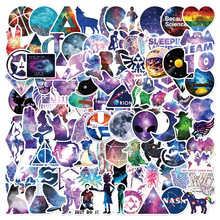 Galaxy sticker 100 pieces of PVC stickers for guitar and car that do not repeat waterproof original cabin luggage