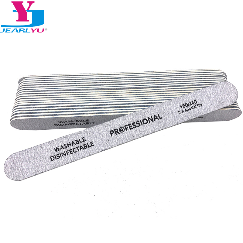 25 Pcs Wood Nail File 180/240 Strong Thick Special Nail Files Grey Lime Per Unghie Professional Wooden Nails Files Nagelvijl New