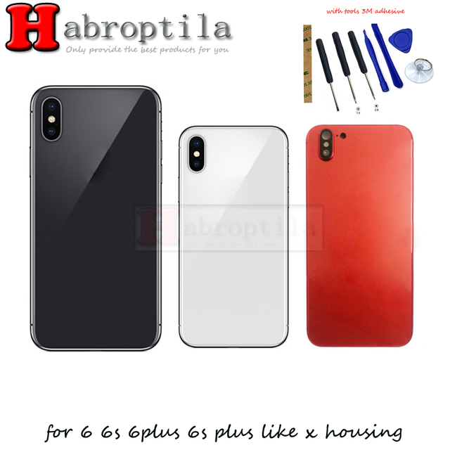 best service 188db 23fff US $29.8 |For iPhone 6 Plus Like X Back Housing Battery Glass Cover Rear  Door Case Replacement For Apple iPhone 6s plus tools 3M adhesive-in Mobile  ...