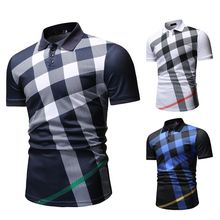 Polo Shirt Mannen Plaid Patroon Nieuwe Aankomst Mannen Casual Mode Polo Shirt Voor Zomer 2020