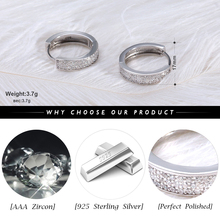 Small Circle Shiny CZ Hoop Earrings Jewelry for Women