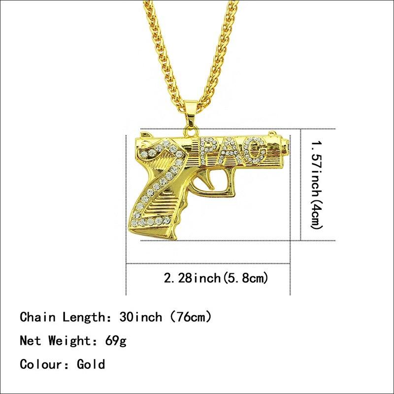 Хип-хоп ювелирные изделия Модные золотые длинные цепочки ожерелья для женщин и мужчин персонализированные буквы Орел молитвенный знак карта кулон ожерелье - Окраска металла: N059