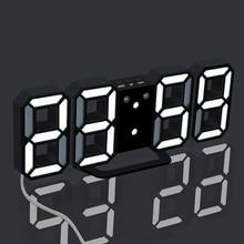 3D Large LED Wall Clock Digital Date Time Celsius Nightlight Display Table Desktop Clocks Alarm From Living Room D30