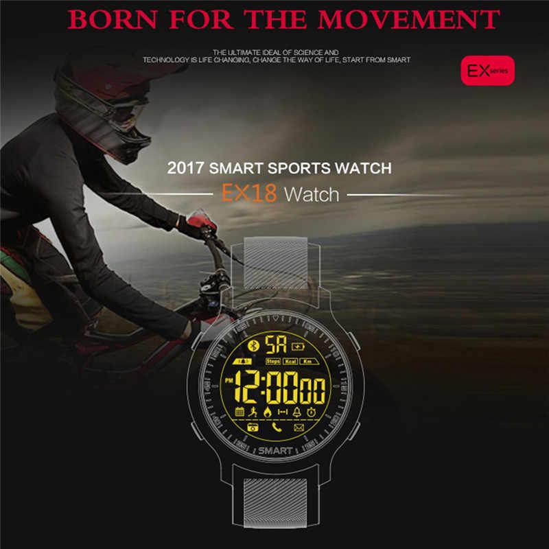 OGEDA 2019 Thông Minh Sportwatch Người Đàn Ông EX18 Lặn 50 M Không Thấm Nước Pedometer Đồng Hồ Bấm Giờ SleepTracker Tập Thể Dục Bluetooth cuộc gọi/Tin Nhắn Đẩy