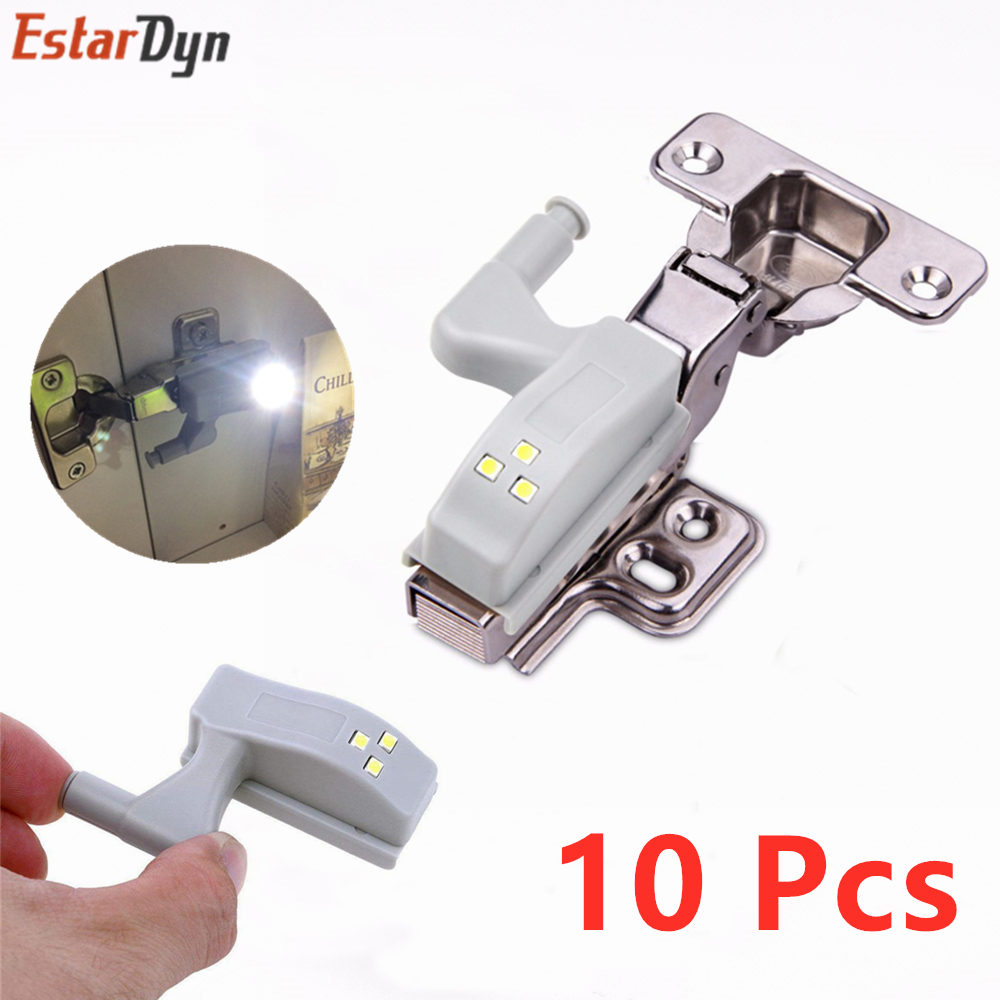 LED Under Cabinet Light Universal Wardrobe Light Sensor Led Armario Inner Hinge Lamp Luces For Cupboard Closet Kitchen 10pcs