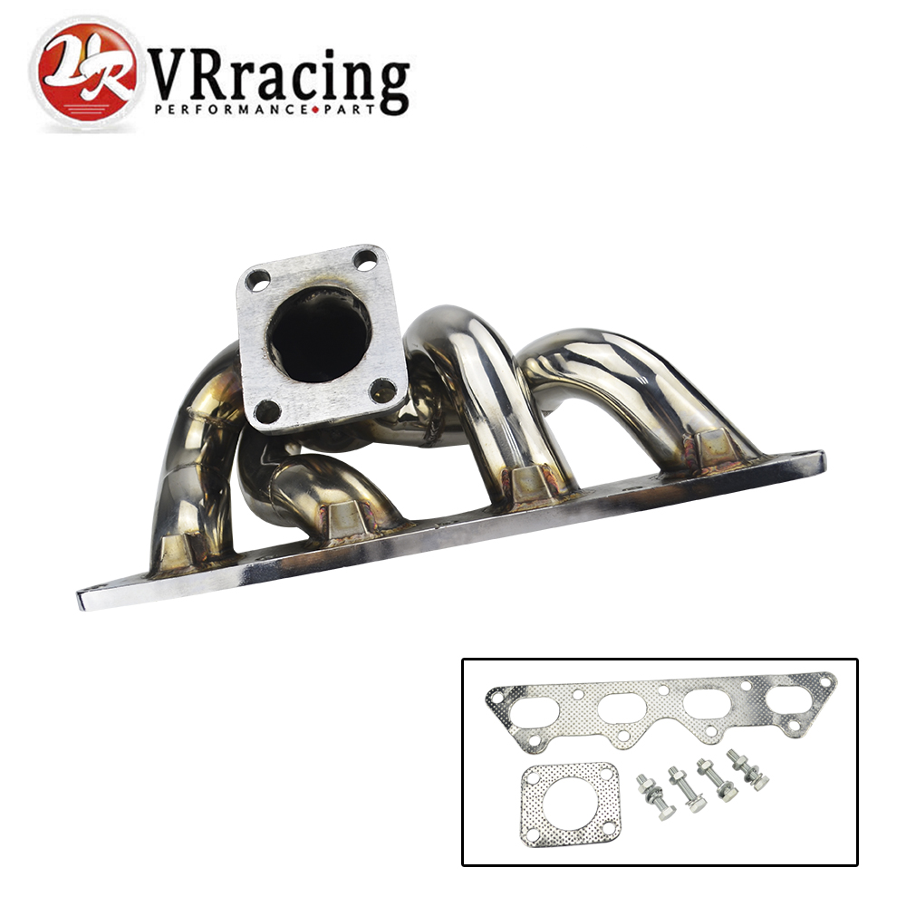 VR RACING - STAINLESS STEEL HEADER TURBO MANIFOLD FOR 4G63 DSM ECLIPSE TALON TD05 1G 2G TURBO MANIFOLD VR3503 vr racing hnbr racing timing belt