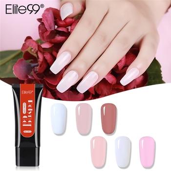 Elite99 Nail art Transparent 6 farben 30g Schnell Gebäude Französisch Maniküre Klar Finger Verlängern Nagel Tipps Kristall UV Gel poly Gel
