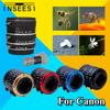 Gold Metal Mount Auto Focus AF Macro Extension Tube Ring For Canon EOS EF S Lens