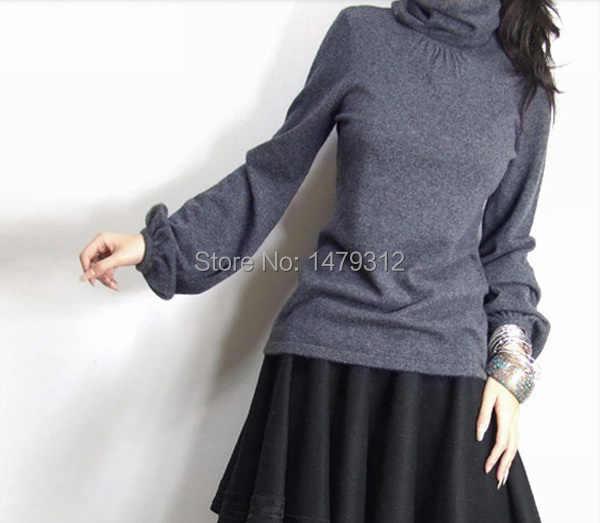 2019 Модные осенние и зимние пуловеры, Женский кашемировый шерстяной свитер с высоким воротом, женский свитер, тонкий вязаный свитер