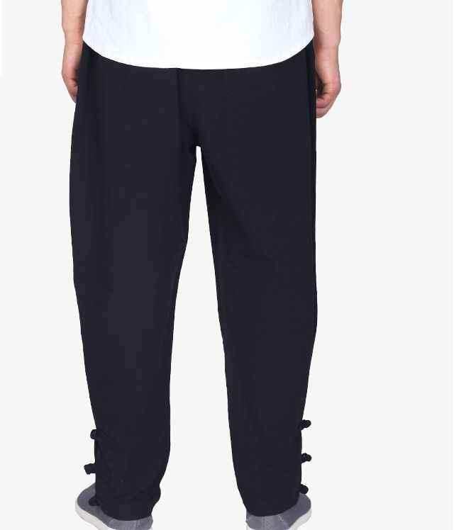 Унисекс Хлопок Лето и весна буддизм дзен форма для боевых искусств легли брюки для медитации tai Chi Kung Fu Боевые искусства брюки черный/серый