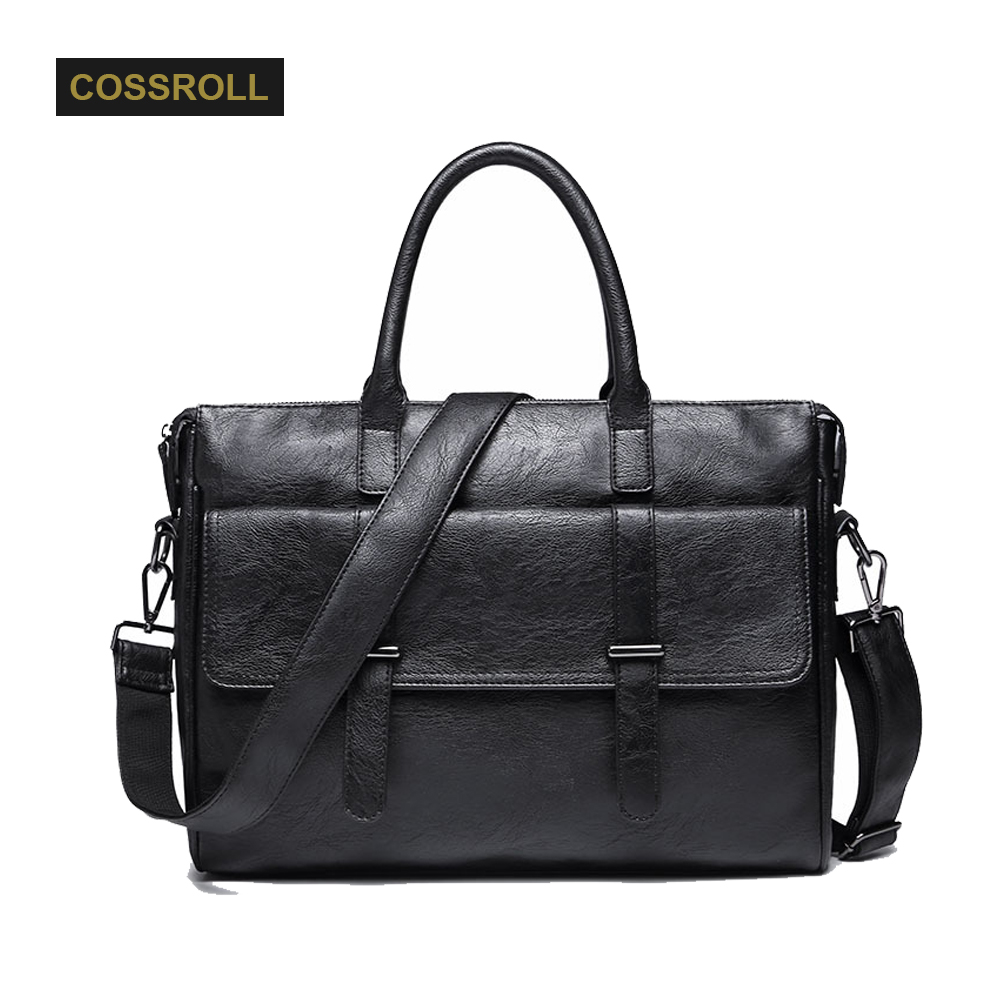 Men Leather Bag Casual Briefcase Business Shoulder Bag Leather Messenger Bags Computer Laptop Handbag Travel Bags for Men's Gift 2016 men casual briefcase business shoulder bag leather messenger bags computer laptop handbag bag men s travel bags two colors
