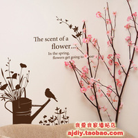 Free Shipping Wholesale And Retail Birds And Flowers Wall Stickers Wall Decal Home Decoration A4004