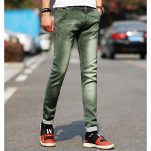 New fashion mens jeans light color stretch jeans casual straight Slim fit Multicolor skinny jeans men cotton denim trousers