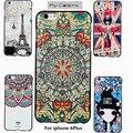Minhas cores para iphone 6 plus caso 6 mais pintura relief 3d suave silicone tampa traseira iphone 6 plus com caixa de varejo