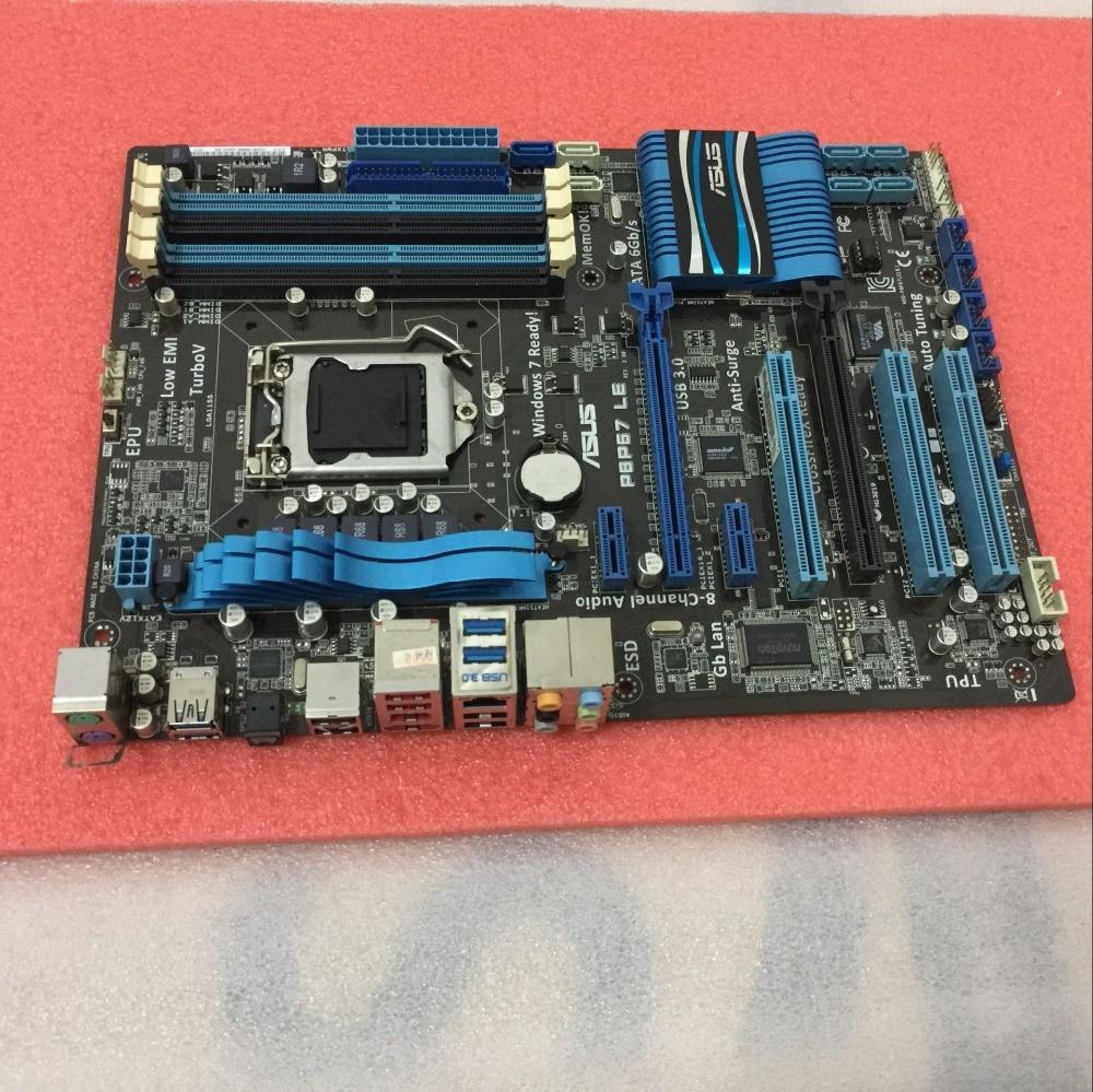 Бесплатная доставка оригинальный материнская плата для ASUS p8p67 Le LGA 1155 DDR3 32 ГБ USB2.0 USB3.0 SATA II P67 Desktop материнская плата