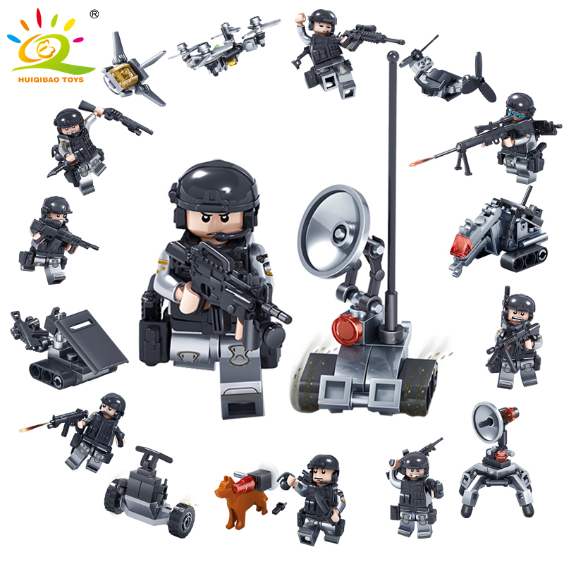 Model Building New Classic Model Compatible Legoingly Military Swat Special Troops Fighter Jedi Hiding Glider Bricks Blocks Toys For Kids Gifts Moderate Price Blocks