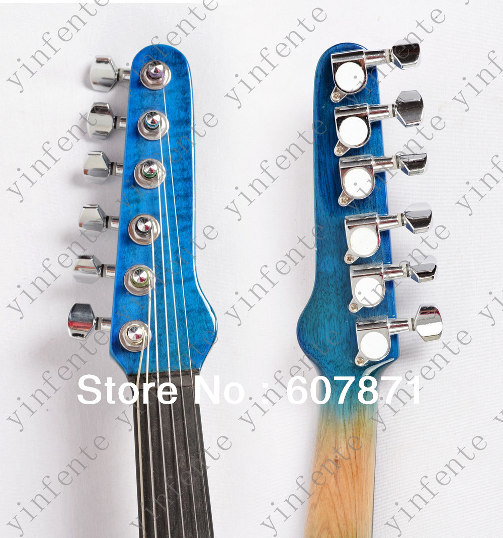 New  6 string 4/4 Electric violin Solid wood hand Guitar head style one 4 string 4 4 violin electric violin acoustic violin maple wood spruce wood big jack green color