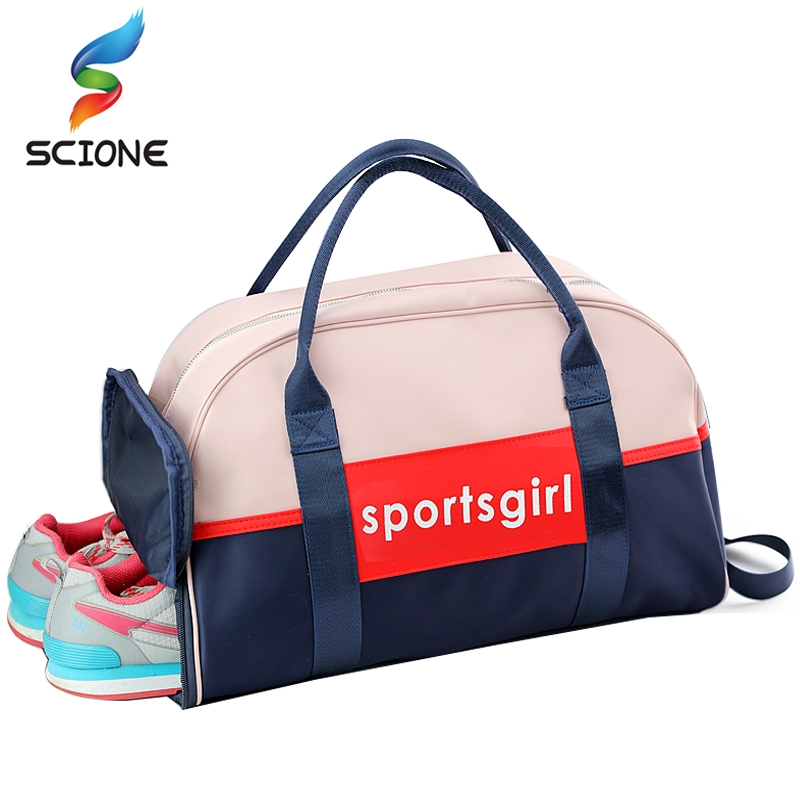 Hot Outdoor Luggage Bags Sports Gym Bag For Women Waterproof Foldable Fitness Training Shoulder Bag Large Tourist Travel Handbag nylon waterproof sports bag fitness bag profession men and women gym shoulder bag surper light travel luggage crossbody bags