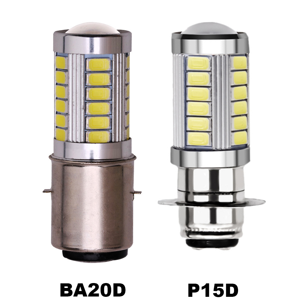 1x H6 BA20D Led Headlight H6M BA20D PX15D Motorcycle High Low Beam Motorbike Headlight Fog Light Bulb 12V