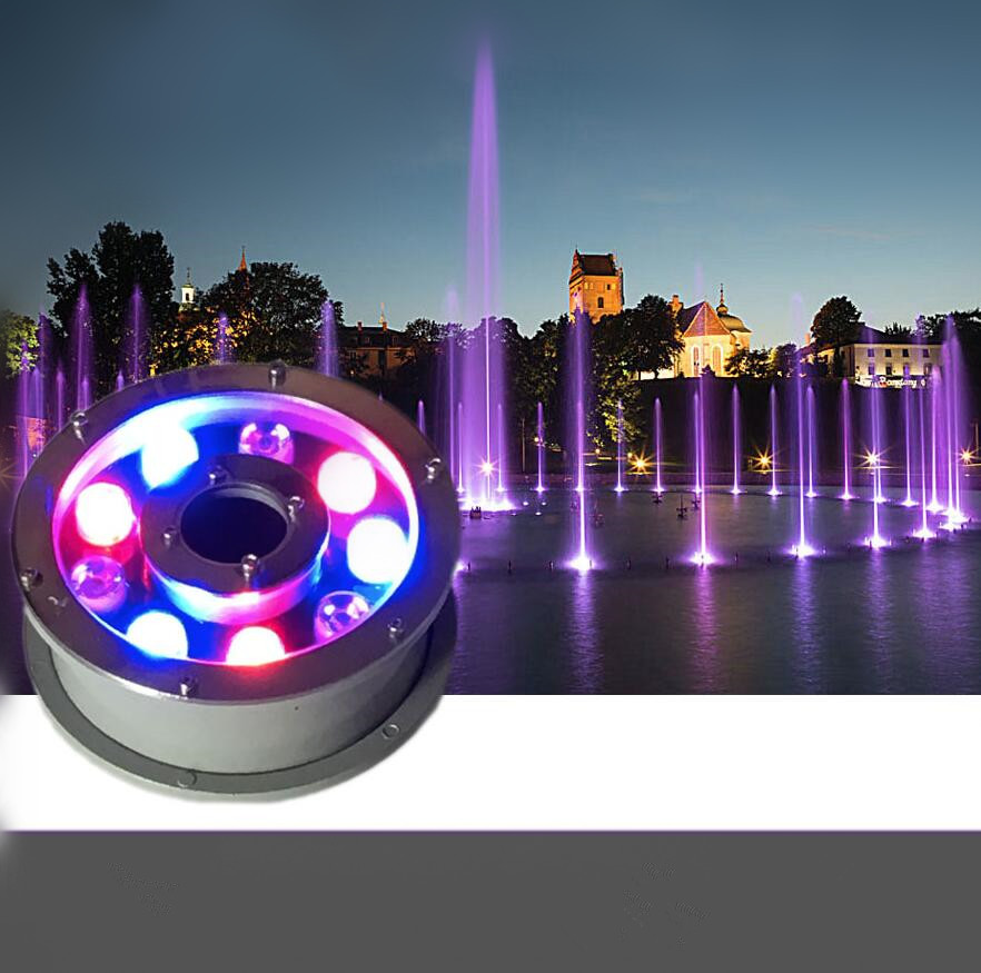 Led Yard Lights For Sale: LED Pool Light 9W RGB IP68 LED Swimming Pool Light Outdoor