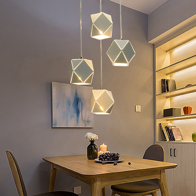Nordic Pendant Lights Bar Modern Minimalist Creative Hanglamp Personality  Three Home Dining Table Led Dining Room